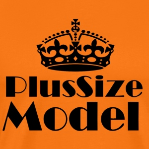 Plus-size modell - Premium T-skjorte for menn
