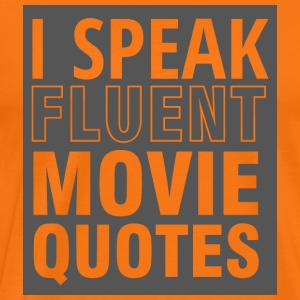 Geek: I speak fluent Movie Quotes - Männer Premium T-Shirt