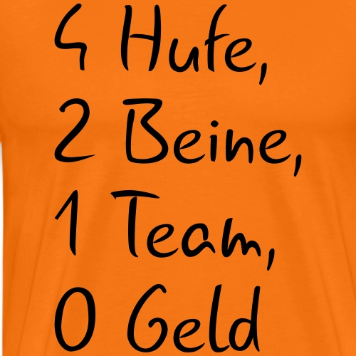 Hufe, Beine, Armut - Männer Premium T-Shirt