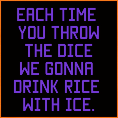 Rice with ice. - Mannen Premium T-shirt