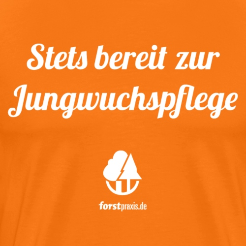 forstpraxis Jungwuchspflege weiß - Männer Premium T-Shirt