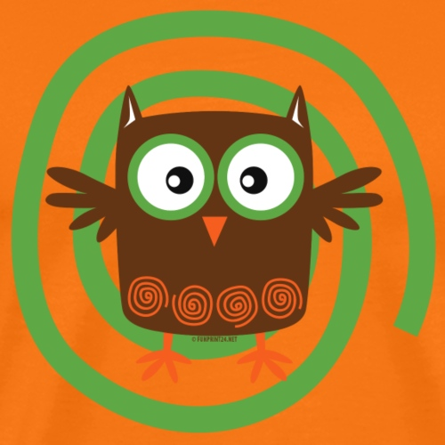 FP10-53 ORGANIC OWL - TEXTILE AND GIFT PRODUCTS - Miesten premium t-paita