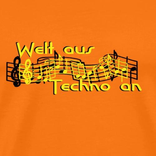 Welt aus Techno an - Männer Premium T-Shirt