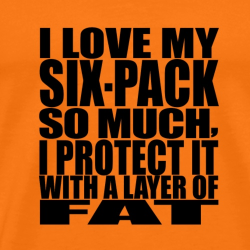 I love my six pack-black - Männer Premium T-Shirt