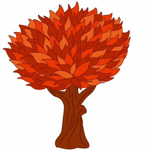 Baum orange - Männer Premium T-Shirt