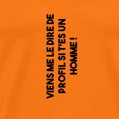 De profil ! - T-shirt Premium Homme