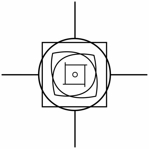 Quadrat im Auge des Quadratischen Kreis - Männer Premium T-Shirt