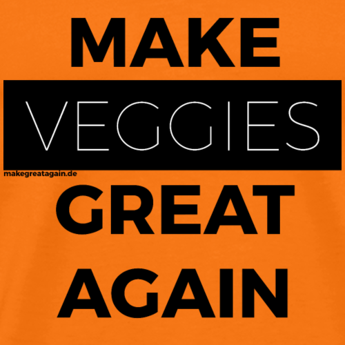MAKE VEGGIES GREAT AGAIN black - Männer Premium T-Shirt