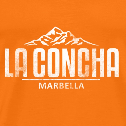 La Concha Vintage White for Marbella - Men's Premium T-Shirt