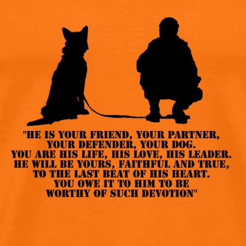 Dog and his handler - Premium T-skjorte for menn