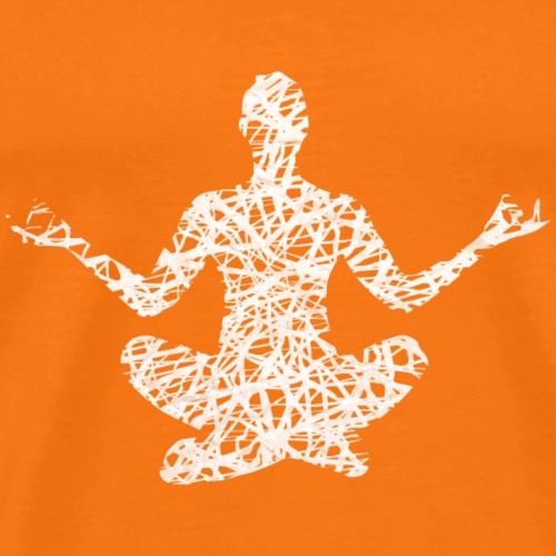 Fitness Yoga #1 Weiß Geschenk Geschenkidee - Männer Premium T-Shirt
