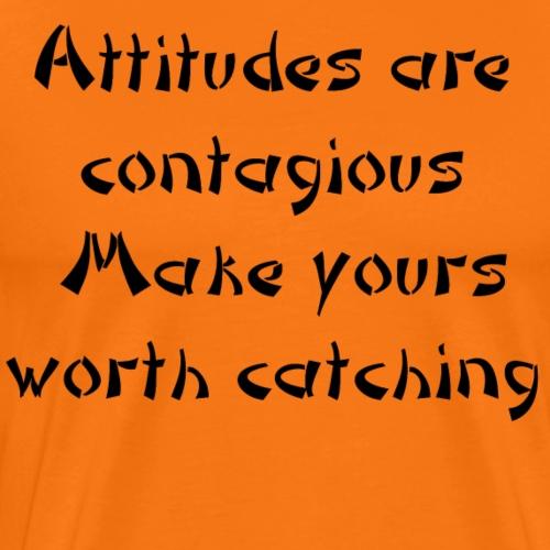 Attitude black - Men's Premium T-Shirt