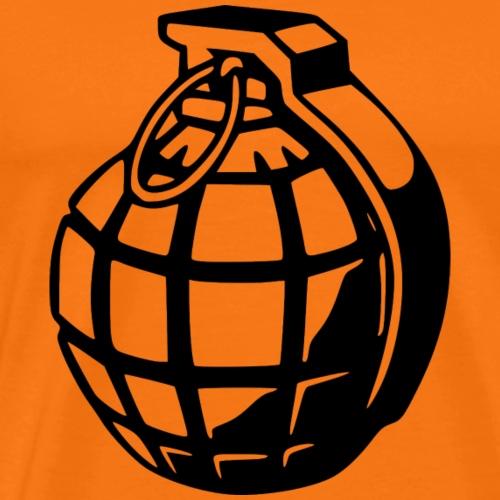 Granate in schwarz - Männer Premium T-Shirt