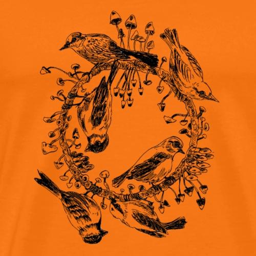 Vögel / Baum / Kreis / Pilze - Männer Premium T-Shirt