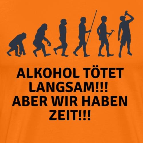 Witziges Party Alkohol Design - Männer Premium T-Shirt