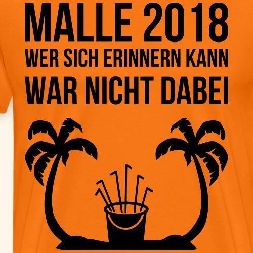Wer sich erinnern kann Malle 2018 Mallorca saufen - Männer Premium T-Shirt
