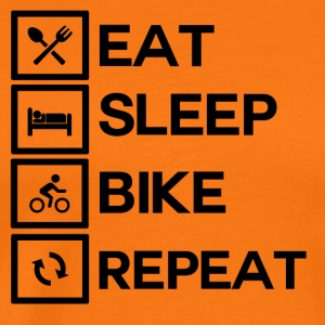 Bike Rythm - Eat Sleep Bike Repeat - T-shirt Premium Homme