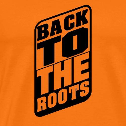BackToTheRoots Black - Männer Premium T-Shirt