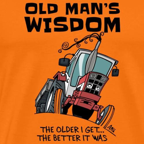 0499 oldmanswisdom IH553 - Mannen Premium T-shirt
