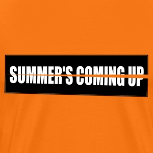 Summer's Coming up High res - Men's Premium T-Shirt
