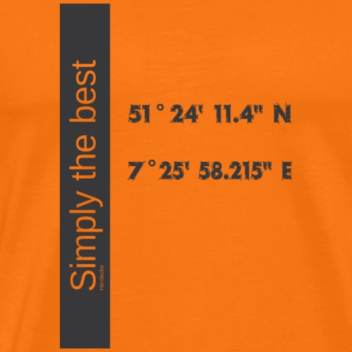 Herdecke Simply the best - Männer Premium T-Shirt