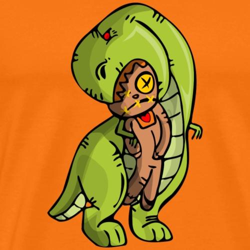 Dinosaurio vodoo - Camiseta premium hombre