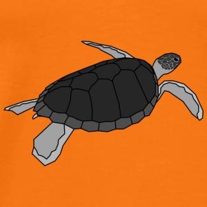 Wasserschildkröte - Turls Grey - Männer Premium T-Shirt