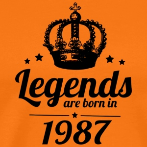 Legends 1987 - Herre premium T-shirt