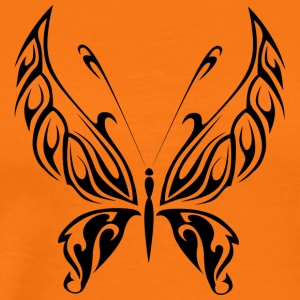 Svart Tribal Tattoo Butterfly som en gave - Premium T-skjorte for menn
