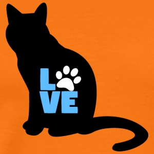 Cat svart LOVE konstruktion - Premium-T-shirt herr