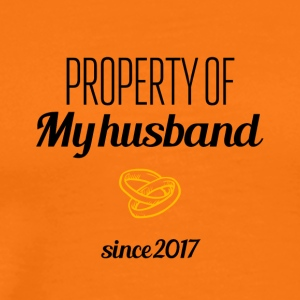 Property of my husband since 2017 - Men's Premium T-Shirt
