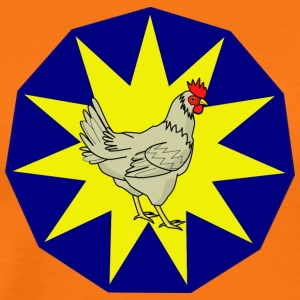 chicken148 - Premium-T-shirt herr