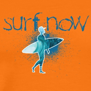 surf now surfer with cap - Men's Premium T-Shirt