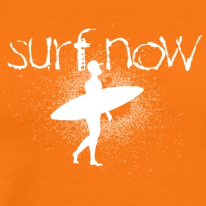 surf now surfer with cap white - Men's Premium T-Shirt