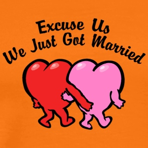 Just Married Excuse Us - Men's Premium T-Shirt