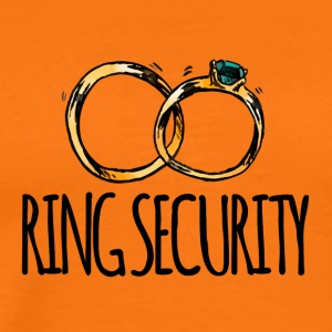 Wedding / Äktenskap: Ring Security - Premium-T-shirt herr