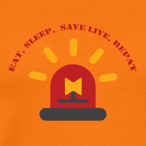Fire Department: Eat, Sleep, Save Live, Repeat - Men's Premium T-Shirt