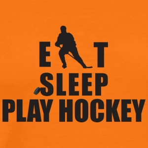EET SLAAP PLAY HOCKEY - Mannen Premium T-shirt
