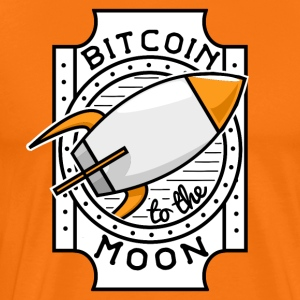 Bitcoin to the Moon - Männer Premium T-Shirt