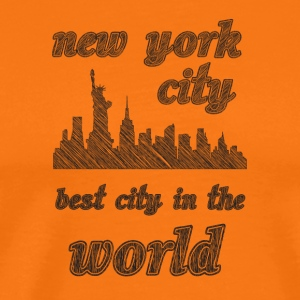 New York City is de beste stad in de wereld - Mannen Premium T-shirt