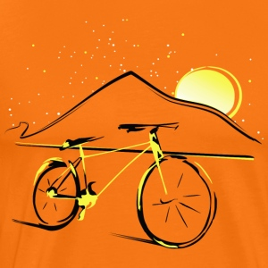 Teide and bike - Men's Premium T-Shirt