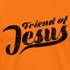 Friend of Jesus schwarz - Männer Premium T-Shirt