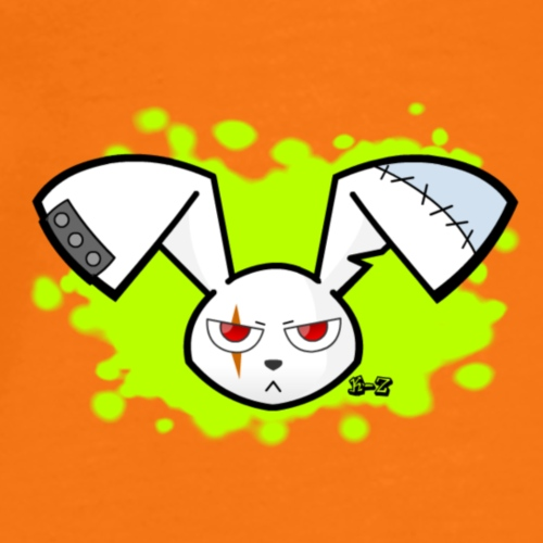 rabbit splat font by kaji zu d6xxxnr - Camiseta premium hombre