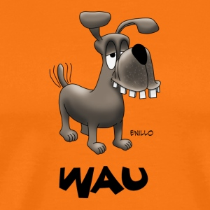 Enillo Cartoon Hund Wau - Männer Premium T-Shirt