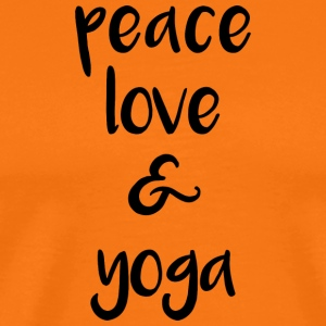Peace love and yoga - Men's Premium T-Shirt