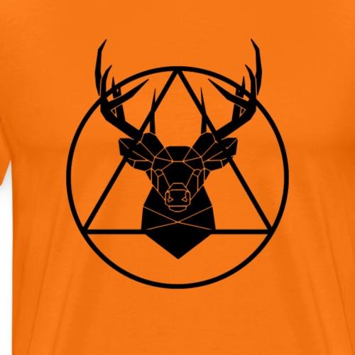 Hirsch Geometrie  Gute Geschenkidee - Männer Premium T-Shirt
