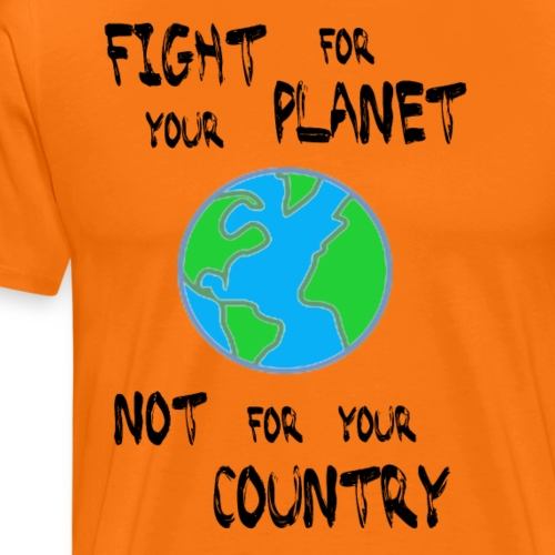 Fight for your Planet (black) - Men's Premium T-Shirt