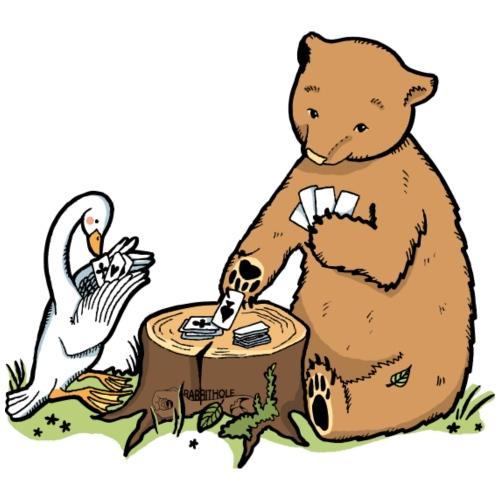 Kinder T-Shirt Tiere im Wald - Gans und Bär - Männer Premium T-Shirt