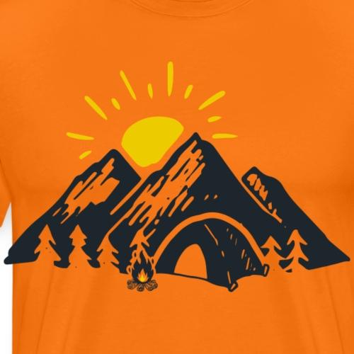 Berge mit Sonne - Männer Premium T-Shirt