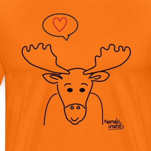 Eland met groot gewei - T-shirt Premium Homme